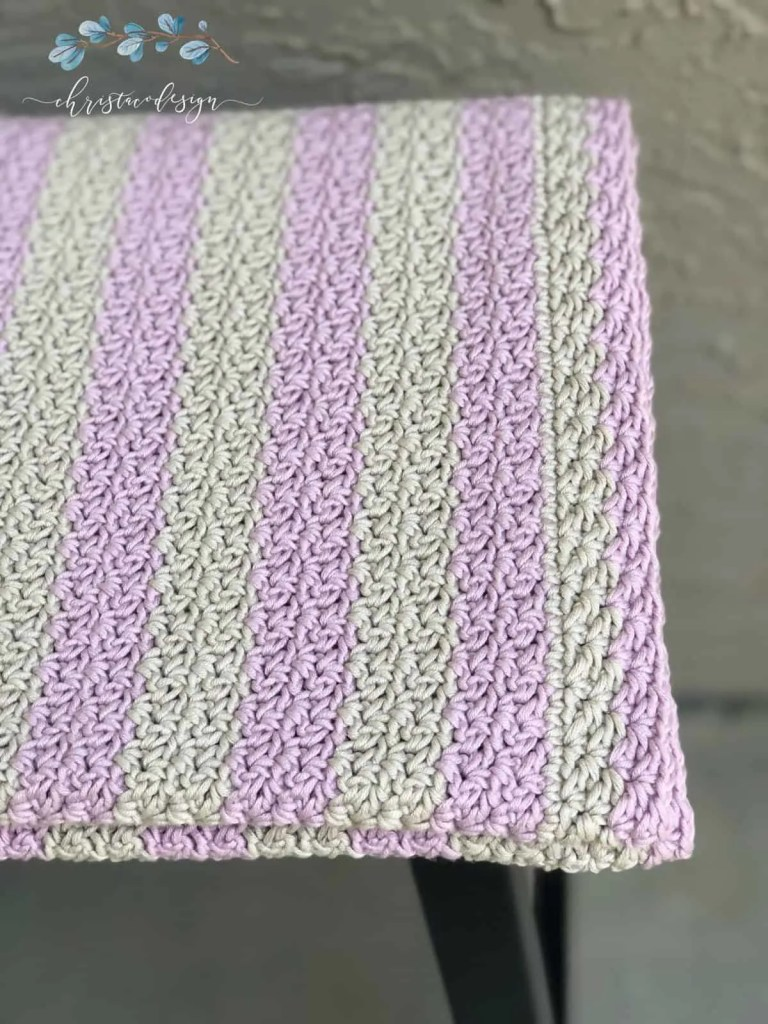 picture of cotton crochet blanket striped