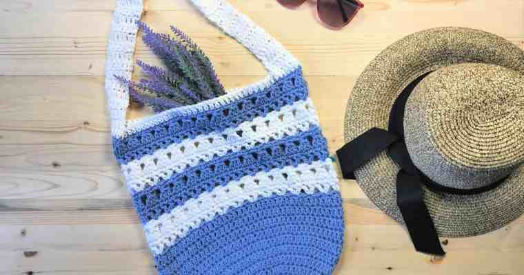 The Violet Market Tote a Free Crochet Pattern