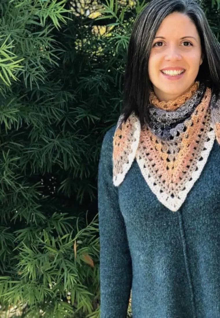 Ambra Triangle Scarf a Free Crochet Pattern