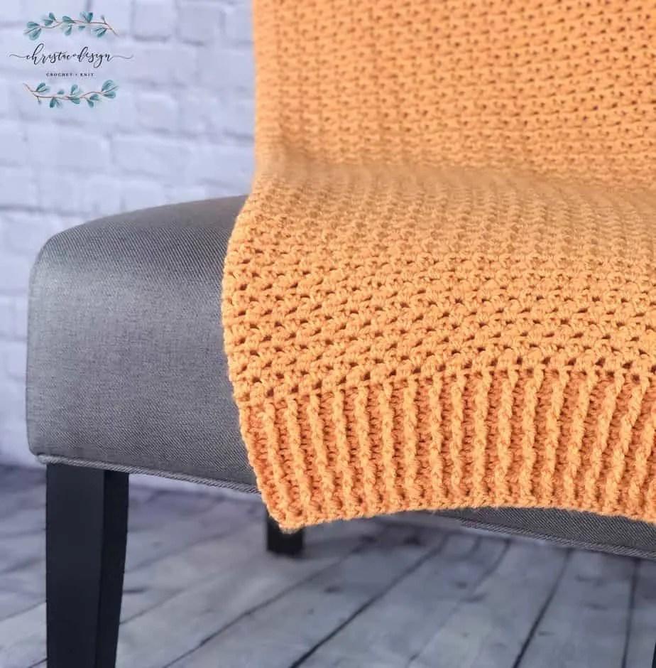Between Ridges Blanket a Free Crochet Pattern
