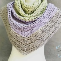 Lilla Triangle Shawl Photo Tutorial Crochet Pattern