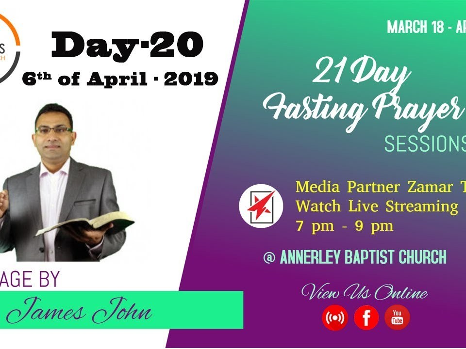 Glorious Life Church- 21 Days fasting Prayer Day-20 (2019)