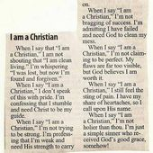 When I Say, 'I Am a Christian' - a poem that is circulating around the inter...