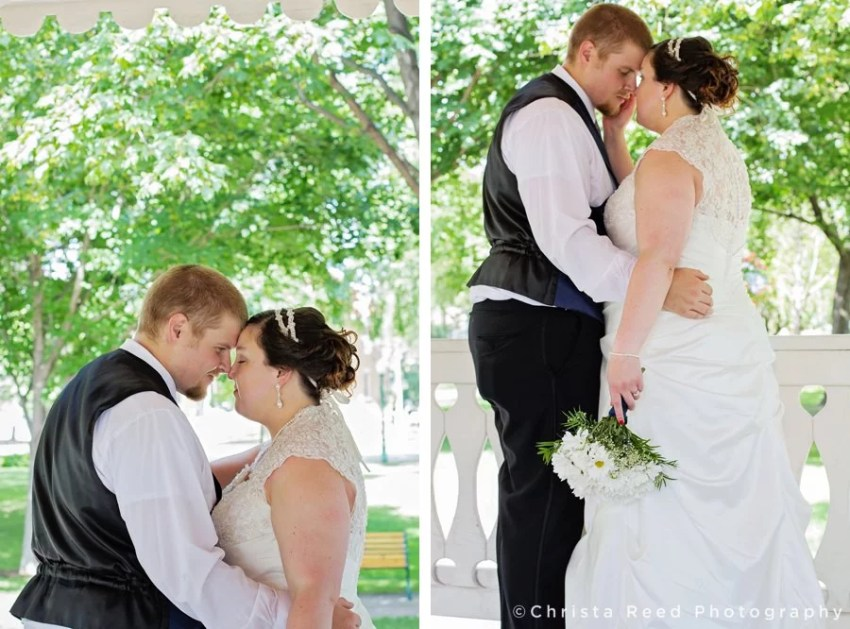 summer time wedding portraits in chaska park