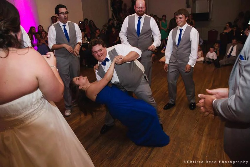 dancing in a circle for wedding reception