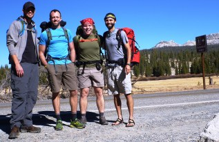 The Guys Hiking To Cathedral Lakes