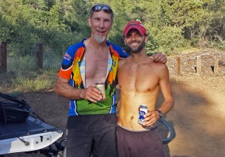 Prescott Circle Trail - Jim and Chris at Finish