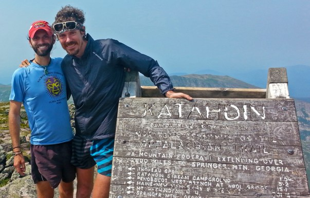 Scott Jurek and Chris Clemens on Katahdin