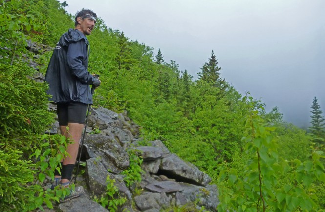 Scott Jurek in Rainy Maine
