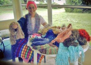 Pat France and knitting