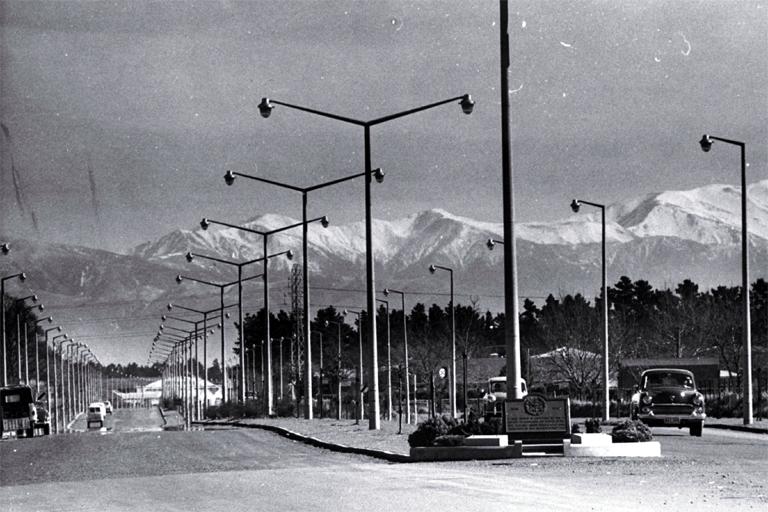 Photo of Memorial Avenue, Christchurch  [ca. 1959]