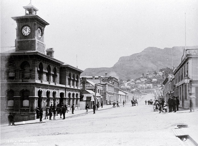 The Post and Telegraph Office in Norwich Quay, Lyttelton [ca. 1885]