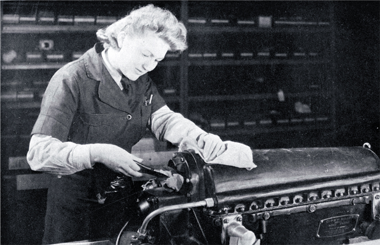 During the war, girls were engaged on a wide range of jobs [between 1940 and 1945] <a