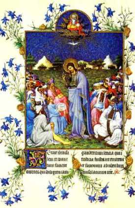 Limbourg Brothers, Feeding of the Multitude