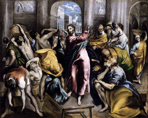 El Greco, Christ Drives Traders from Temple