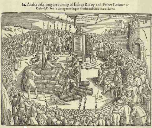 Burning of Ridley and Latimer