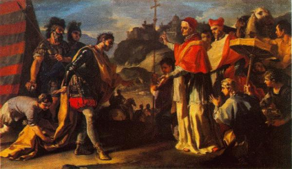 Francesco Solimena, St. Leo the Great going to meet Atilla