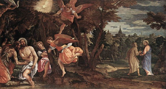 Paolo Veronese, Baptism and Temptation of Christ