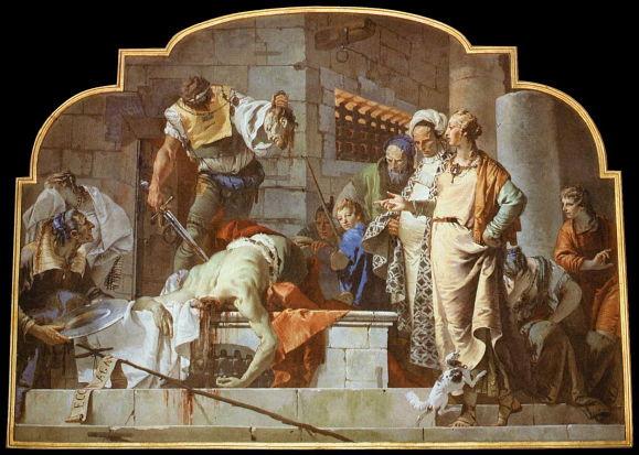 G.B. Tiepolo, Beheading of John the Baptist
