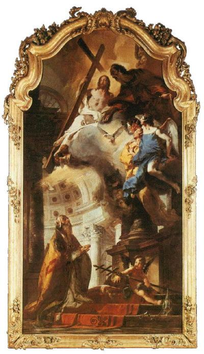 Tiepolo, Pope St. Clement Adoring the Trinity