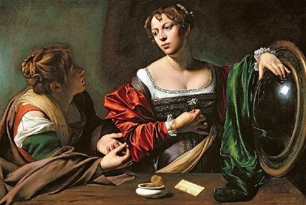 Caravaggio, Martha & Mary Magdalene