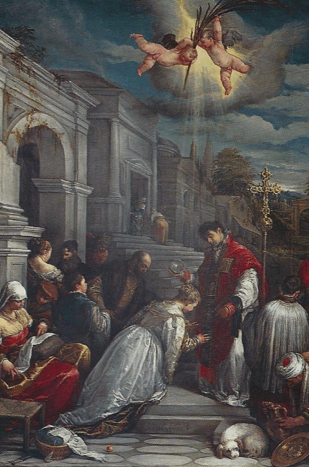 Jacopo Bassano, St. Valentine Baptising St. Lucilla