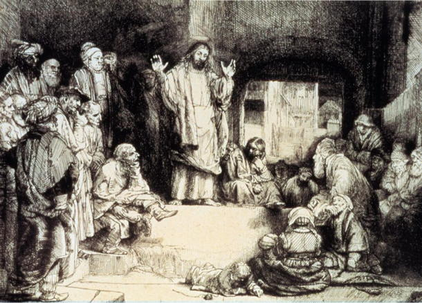 Rembrandt, Christ Preaching (c. 1652)