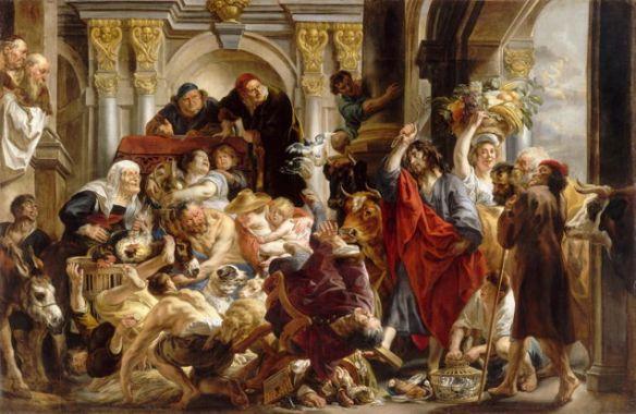 Jordaens, Christ Drives Merchants from the Temple