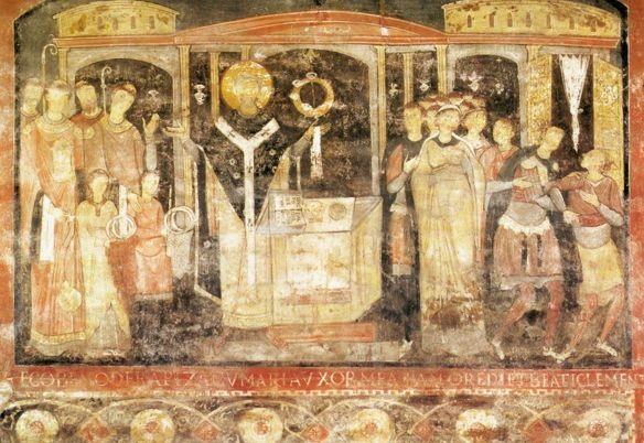 San Clemente al Laterano, St. Clement Celebrating Mass
