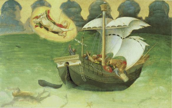 Gentile da Fabriano, St. Nicholas Saves Storm-tossed Ship