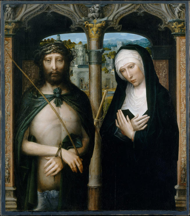 Isenbrandt, Christ Crownned with Thorns (Ecce Homo) and the Mourning Virgin