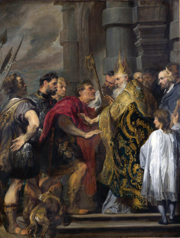 van Dyck, Theodosius Forbidden by St. Ambrose to Enter Milan Cathedral