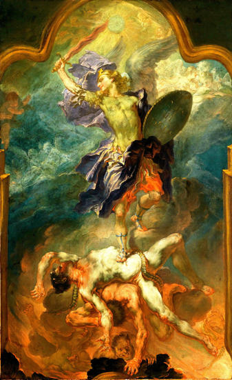 Heindl, Saint Michael the Archangel Vanquishing the Devil