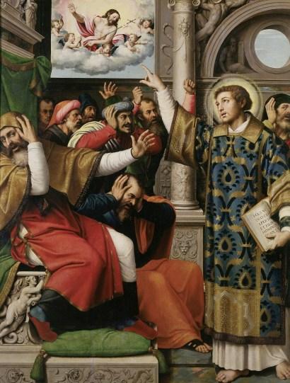 Juan de Juanes, Saint Stephan Accused of Blasphemy