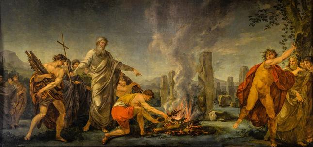 Vincenzo Valdrè, St. Patrick lighting the paschal fire on the Hill of Slane