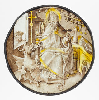 Cloisters Collection, Roundel with Saint Dunstan of Canterbury