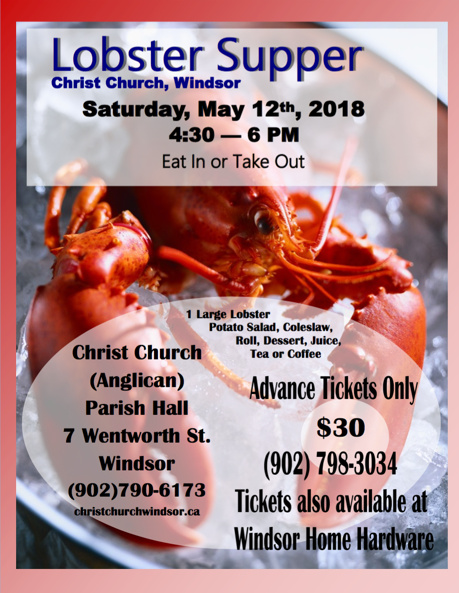 2018 Lobster Supper
