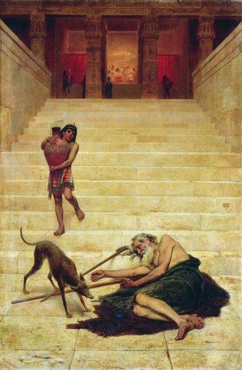 Fyodor Bronnikov, Lazarus at the Rich Man's Gate