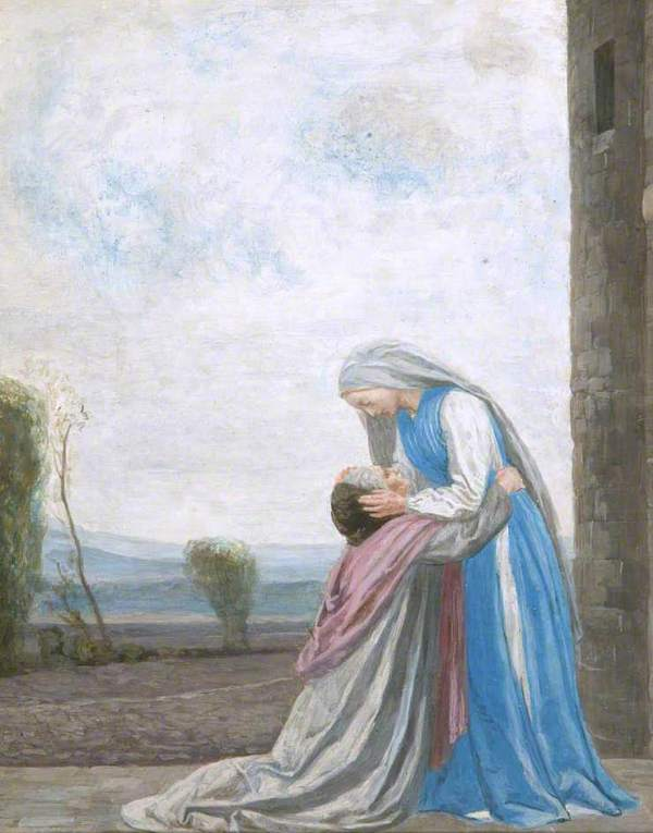 Robert Anning Bell, The Meeting Of The Virgin And Saint Elizabeth