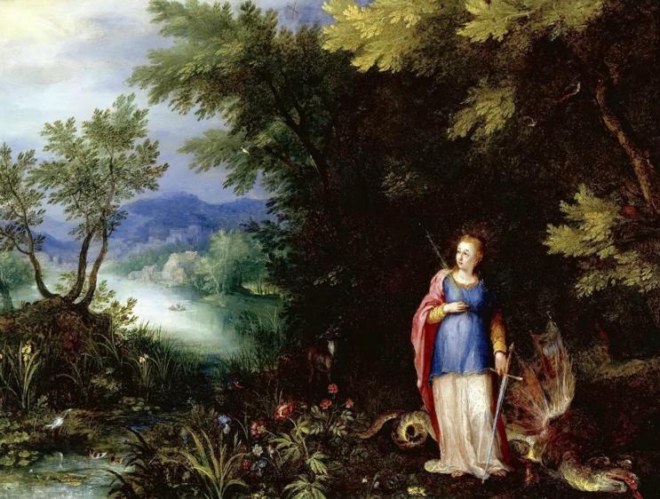 Jan Brueghel the Elder, Saint Margaret and the Dragon