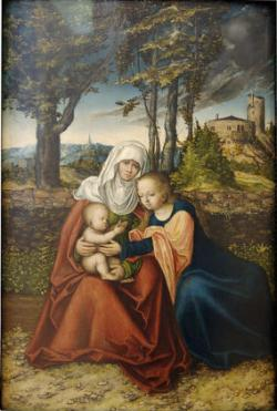 Lucas Cranach the Elder, The Virgin and Child with Saint Anne