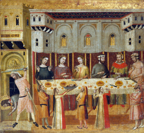 Giovanni Baronzio, The Feast of Herod and the Beheading of the Baptist