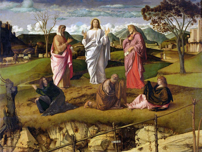 Giovanni Bellini, The Transfiguration, c. 1480-85