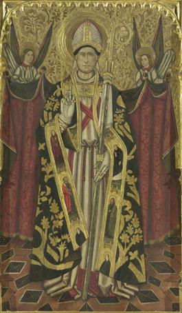 Jaume Huguet, Altarpiece of St. Cyprian (detail)