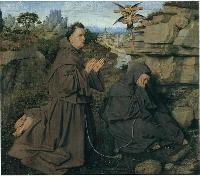 Jan van Eyck, Saint Francis Receiving the Stigmata (Turin)