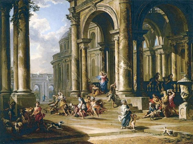 Giovanni Paolo Panini, The Expulsion of the Moneychangers from the Temple, c. 1724