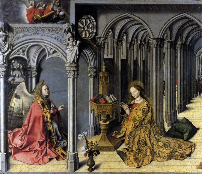 Master of the Aix Annunciation (Barthélemy d'Eyck), Annunciation