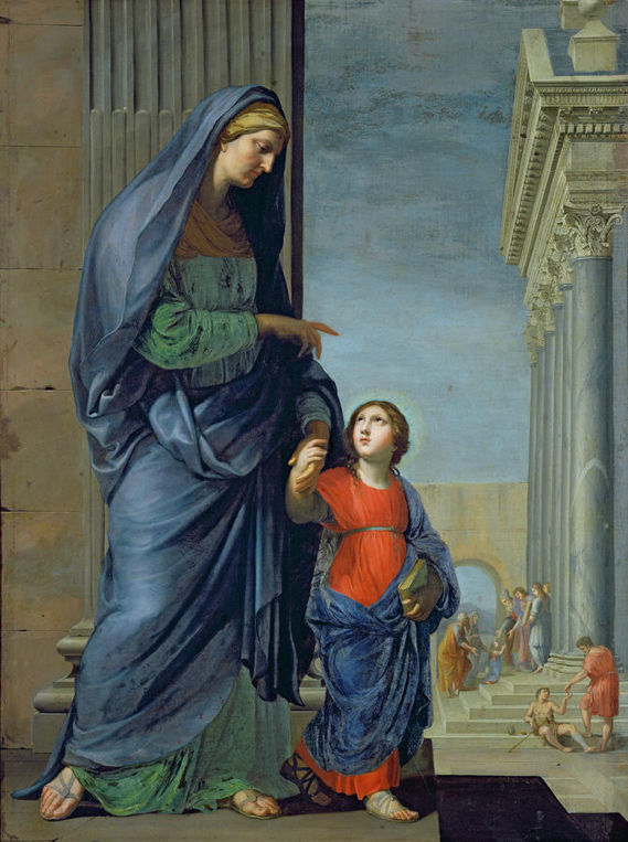 Jacques Stella, Saint Anne Leading the Virgin to the Temple
