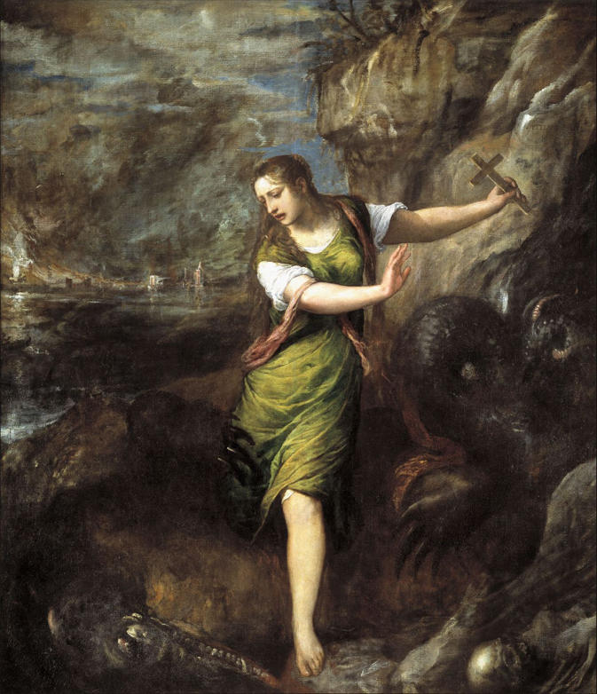 Titian, St. Margaret and the Dragon