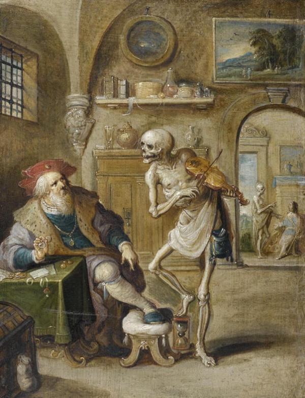 Frans Francken the Younger, Death and the Miser (Detroit)